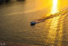 Boat tour on the Dnipro (Jane Sometimes) Tags: blue sunset water river boat ukraine catamaran kiev dnepr