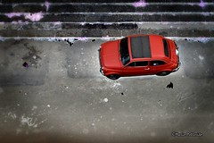 Street art... :-) (Mario Pellerito) Tags: street red art canon eos 50mm italia fiat 14 500 palermo rosso sicilia 60d mariopellerito