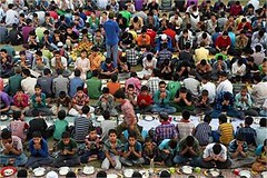 Srinagar: Inmates of an orphanage pray before breaking their fast on 17th day of Ramzan at Rahat Manzil Bemina. (legend_news) Tags: srinagar inmates an orphanage pray before breaking their fast 17th day ramzan rahat manzil bemina