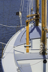 Old Sailor (joegeraci364) Tags: new travel summer vacation england sky cloud seascape color art beach water weather museum vintage season relax landscape fun outdoors coast boat ship connecticut small scenic craft shore boating sail destination leisure serene nautical tallship schooner trap mystic seaport