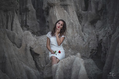 memories of a rose (Jhovany Rosales) Tags: portrait people woman flower cute art girl beautiful rose mxico canon person bokeh 85mm vallarta puertovallarta moment f18 6d