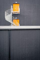 Longyearbyen Architecture Orange Doors #1 2016 Lauri Novak Photography (LauriNovakPhotography) Tags: building geometric lines norway architecture doors shapes architectural svalbard spitsbergen longyearbyen