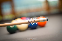 """Your shot"" (dmrathburn) Tags: pool billiards wedding rings details diamonds dof bokeh profoto tamron nikon"
