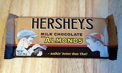 Hershey's With Almonds Candy Bar. (dccradio) Tags: nc candy hats northcarolina retro hersheys almonds sweets treat candybar wrapper chocolatebar throwback milkchocolate lumberton robesoncounty