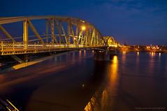 Bridge Erzsbet between Komarom (HU) & Komarno (SK) (zsuzzzs) Tags: night bluehour danube brigde metalstructure