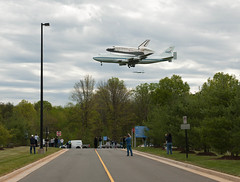 Space Shuttle Discovery Fly-Over (201204170018HQ) (NASA HQ PHOTO) Tags: usa virginia nasa va discovery spaceshuttle chantilly stevenfudvarhazycenter carlacioffi 747shuttlecarrieraircraftsca