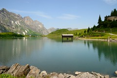 Trebsee near Engelberg - Titlis (Werner_B) Tags: blue summer lake alps green nature berg landscape schweiz switzerland see europa sommer natur sunny hike berge grn alpen blau mountainlake bergsee sonnig landschaft ferien wandern engelberg     titlis turist     bergtour     europo