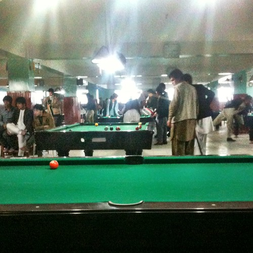 Pool hall in Mazar-e-Sharif. Definitely some of the best pool players I've ever played with.