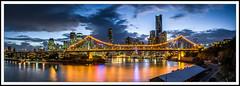 Clearing Brisbane Storm (dtmateojr) Tags: city urban panorama skyline river cityscape stitch pentax sigma australia brisbane panoramic queensland 1770 storybridge k5 panograph dtmateojr