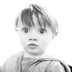 Whaaaaaaat (Ptur Gunn Photograpphy) Tags: lighting old light portrait baby eye girl look studio children fun photography photo high amazing eyes infant funny key child 10 sony 4 full frame highkey months alpha month strobe 850 suprice strobist supriced