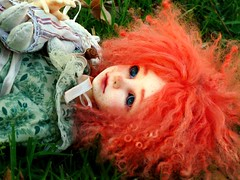 Red haired child (Purple  Enma) Tags: park espaa girl up ball ginger spain doll dolls country meeting pd andalucia cordoba bjd resin meet riz mirta isy jointed redhaired mombi planetdoll