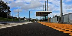 waiting (pukunui81) Tags: newzealand lines clouds canon vanishingpoint waiting auckland trainstation avondale publictransport 550d t2i canoneos550d shg94 scavengerhuntergatherer