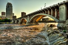 3rd Ave Bridge_HDR_4 (cannondigitalimaging) Tags: bridge sunset minnesota river mississippiriver hdr nikond800 michaelcannonphotography cannondigitalimaging
