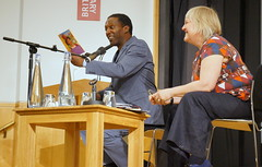 "Lemn Sissay reading from his work to Jane Davis of The Reader • <a style=""font-size:0.8em;"" href=""http://www.flickr.com/photos/81015582@N06/7430795800/"" target=""_blank"">View on Flickr</a>"