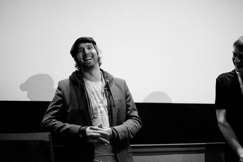 Patrik Eklund and Niall Fulton during a Q&A after the Flicker screening in Filmhouse