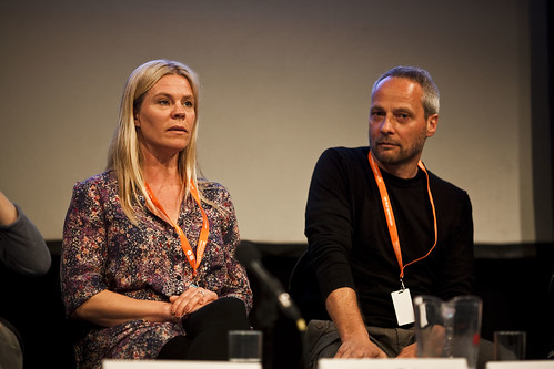 Helle Faber and Peter Engel at the Danish Documentary Focus Event
