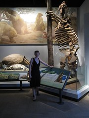 Faith and the giant sloth (g33kgrrl) Tags: june faith fieldmuseum 2012