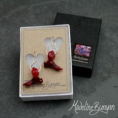 """Cardinal Earrings • <a style=""""font-size:0.8em;"""" href=""""https://www.flickr.com/photos/37516896@N05/7472220756/"""" target=""""_blank"""">View on Flickr</a>"""