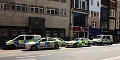 City of London Police - All lined up! (stavioni) Tags: city dog london ford mercedes police bmw astra vauxhall unit mondeo vito battenberg