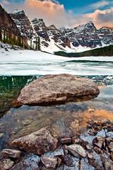 Moraine Lake, Banff National Park (chris lazzery) Tags: sunset canada mountains alberta banffnationalpark morainelake canadianrockies canonef1740mmf4l leefilters 5dmarkii