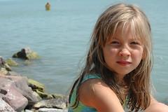 Zita (Csaba_Bajko) Tags: summer vacation portrait lake holiday water girl smile children model hungary blueeyes young blond balaton znka kubinyizita