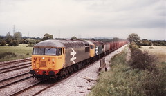 56064 & 56047 on an empty iron ore train from Llanwern to Port Talbot at Peterstone 28.06.1985 (The Cwmbran Creature.) Tags: port iron rail trains class newport british ore 56 talbot llanwern
