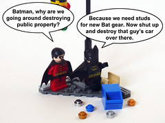 Lego Batman 2: Batman's Broke (Oky - Space Ranger) Tags: 2 money game robin dc video lego super batman heroes build universe broke studs destroy