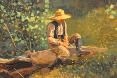 Winslow Homer - The Whittling Boy, 1873 at Institute of Art Chicago IL (mbell1975) Tags: boy portrait usa chicago art museum painting us illinois gallery museu unitedstates fine arts musée musee m il institute american realist homer impressionism museo impression impressionist muzeum realism winslow the müze whittling 1873 museumuseum