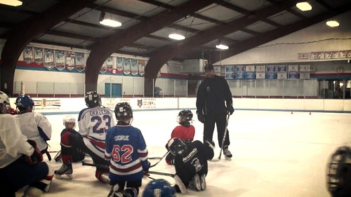 Brad Perry coaching a hockey school in Chicago 25