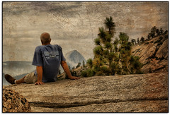 Contemplation... (scrapping61) Tags: california feast photomanipulation halfdome yosemitenationalpark richards legacy 2009 highcountry tistheseason olmsteadpoint vividimagination goldengallery musicphoto scrapping61 sharingart awardtree davincimemories showthebest daarklands legacyexcellence trolledproud trollieexcellence daarklandsexcellence hypotheticalawards exoticimage artnetcomtemporary digitalartscene netarti