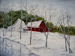 Winter Surprise -oil