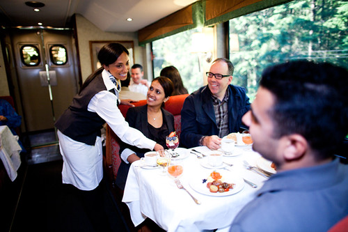 Dining, The Rocky Mountaineer from The Luxury Train Club