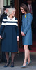 Catherine, Duchess of Cambridge, aka Kate Middleton and Camilla, Duchess of Cornwall unveiling a plaque at Fortnum & Mason during the Queen's Diamond Jubilee year to commemorate the resotration of Piccadilly, before heading inside for a tour of the department store. London, England