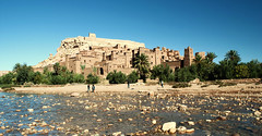 Old kasbah in the Sahara desert (Tusken91) Tags: africa sun mountains tree sahara sunshine photoshop river studio lawrence nikon desert mud north dry prince persia palm morocco maroc arabia atlas marrakech dslr lawrenceofarabia gladiator princeofpersia kasbah marocko ken d5000