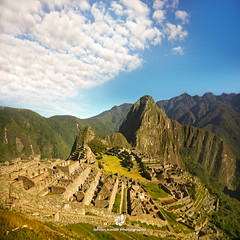 Machu Picchu (fesign) Tags: morning travel summer mountain plant tree tourism peru southamerica nature grass inca stone forest trek landscape outdoors early ancient hiking path south steps sunny nobody adventure ridge journey valley empire andes civilization spirituality cloudforest machupicchu awe past footpath cloudscape urubambariver precolumbian incatrail lostcity destinations famousplace placesofinterest internationallandmark theamericas outstandingromanianphotographers worldsgreatwonders h21910267