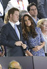 Prince Harry and Catherine, Duchess of Cambridge, aka Kate Middleton London 2012 Olympic Games - Closing Ceremony London, England