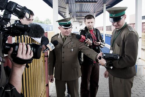 Railway border checkpoint in Terespol (UNHCR Central Europe) Tags: radio tv media border poland press journalists terespol bordercheckpoint railwayborder