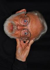 Self Portrait - Pedestal (zendt66) Tags: portrait selfportrait self beard nikon expression picasa surprise selfie d90 52weeks2012 zendt66
