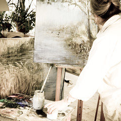 Avec ma compagne... dans son atelier... l'amour de l'art en partage...!!!