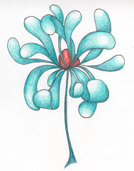 Flip flower (Amaryllis Creations) Tags: zentangle