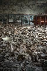 Sea of despair (Kriegaffe 9) Tags: school abandoned nikon decay class gasmask gasmasks 1424