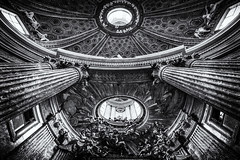 Flesh and blood (agmarcon) Tags: bw rome church dome bernini