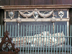 Parish Church of St Laurence, Ludlow (pefkosmad) Tags: uk england church worship shropshire religion tomb indoor ludlow anglican effigy stlaurence placeofworship stjohnschapel hallowedground churchofengland parishchurch englandsthousandbestchurches