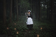 La virgulino en arbaro (TAKAGI.yukimasa1) Tags: portrait people woman girl beauty forest canon eos japanese cool fineart mysterious asiangirl 5dsr