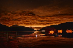 Light pollution over loch lomond (kyleknox) Tags: longexposure cruise scotland pier boat nikon lochlomond lightpollution d3200 sloydam