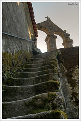 Escalera hacia el cielo (Jose Manuel Cano) Tags: espaa stone spain stair heaven belltower escalera galicia cielo monasterio campanario piedra ourense monatery nikond5100