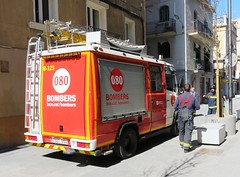 Bombers - Ambulancia (Hear and Their) Tags: barcelona fire ambulance barceloneta service firemen