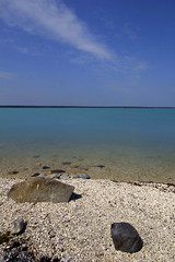 Little Limestone Lake (Chalicerae) Tags: lake beach spring paradise bluesky pebbles manitoba tokina oasis limestone boreal clearwater highway6 canon60d littlelimestonelake tokina1116mm littlelimestone