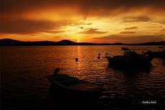 sunset (DaliborMulc) Tags: sunset sea sun clouds boat ngc ibenik