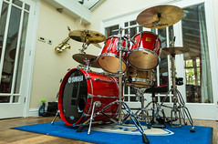 My recently restored Yamaha Rock Tour Custom Drum Kit from 1993 (kevaruka) Tags: red music hot classic rock canon drums punk tour indoor professional instrument yamaha 5d custom drumkit thevile canonef1635f28mk2 canon5dmk3 antisystem 5d3 kevinfrost 5diii canoneos5dmk3